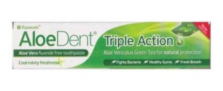 AloeDent Triple Action Toothpaste Aloe Vera Fluoride Free 100ml