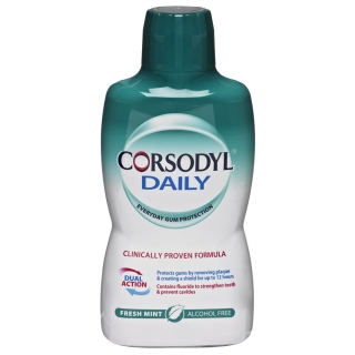 Corsodyl 500ml Daily Fresh Mint Alcohol Free Mouthwash