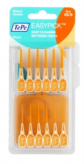 TePe Easy Picks Orange XS/S (36 Brushes & Travel Case)