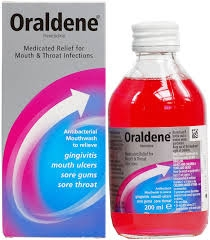 Oraldene Throat & Mouth Infection Mouthwash Original 200ml