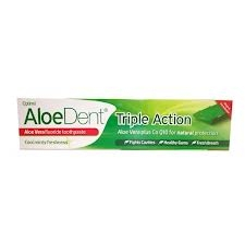 AloeDent Triple Action Toothpaste Aloe Vera Fluoride 100ml