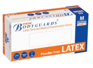 Bodyguard latex powder free Gloves- All sizes