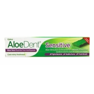 AloeDent Sensitive Aloe Vera Flouride Free Toothpaste 100ml