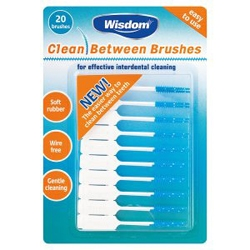 Wisdom clean between brushes (20) - All Sizes Available