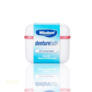 Wisdom Denture Bath with Rinsing Basket